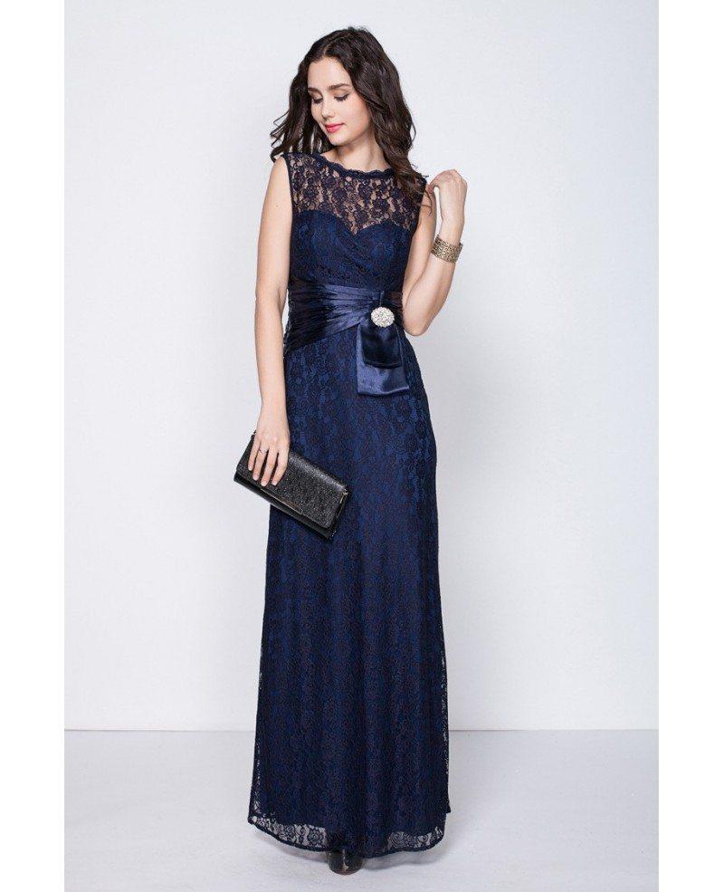 Beautiful Navy Blue Petite Semi Formal Dresses with Full Lace #CK347 ...