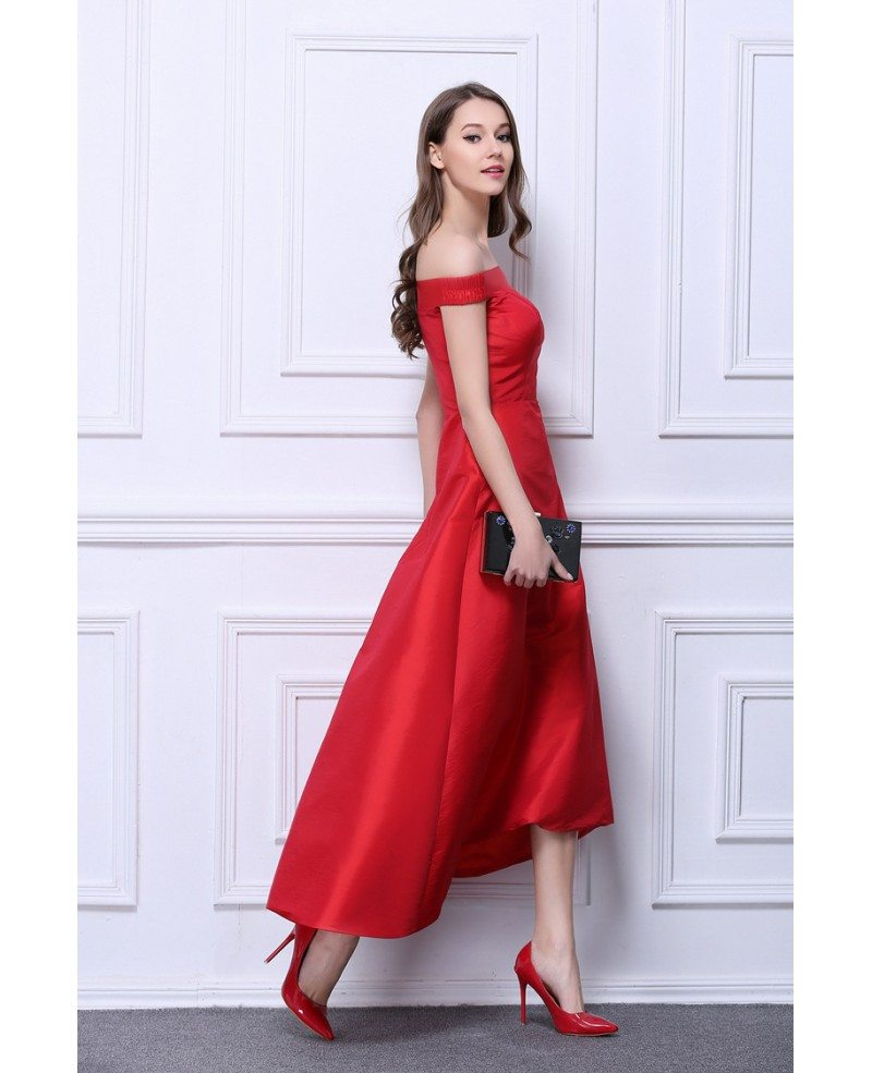 Vintage Red Tea Length Dresses