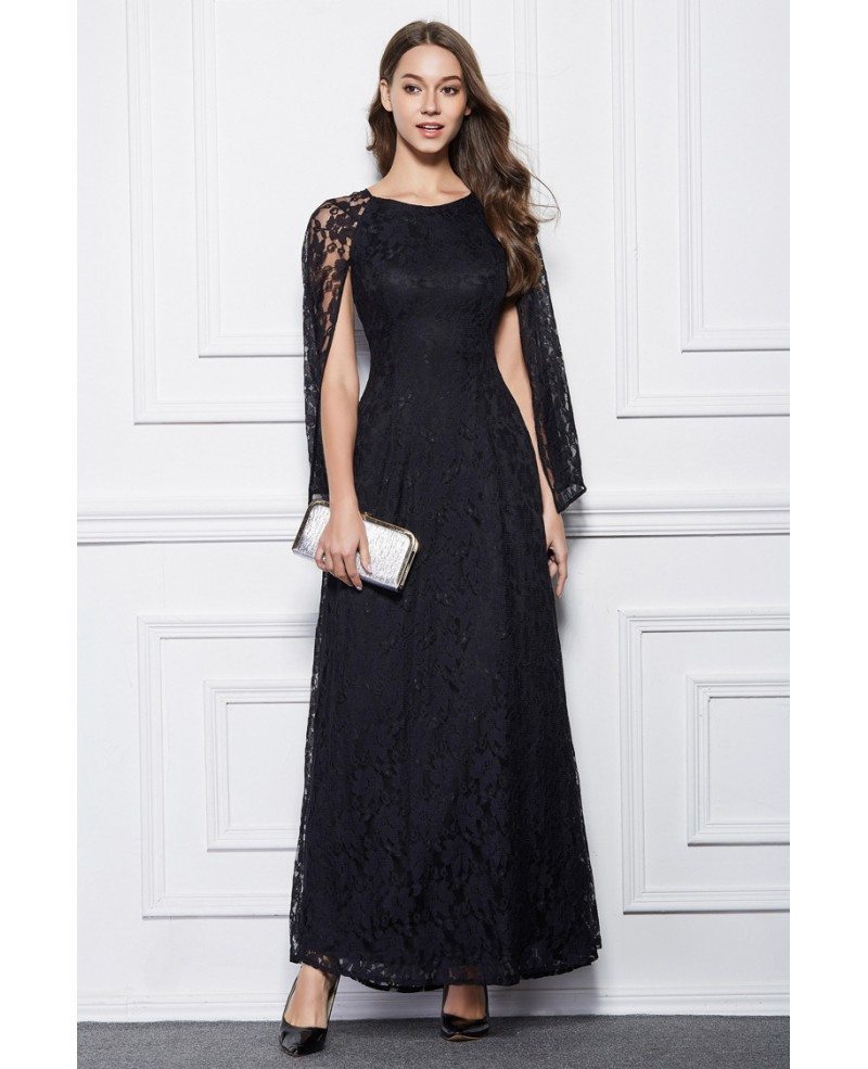 elegant black lace dresses - photo #35