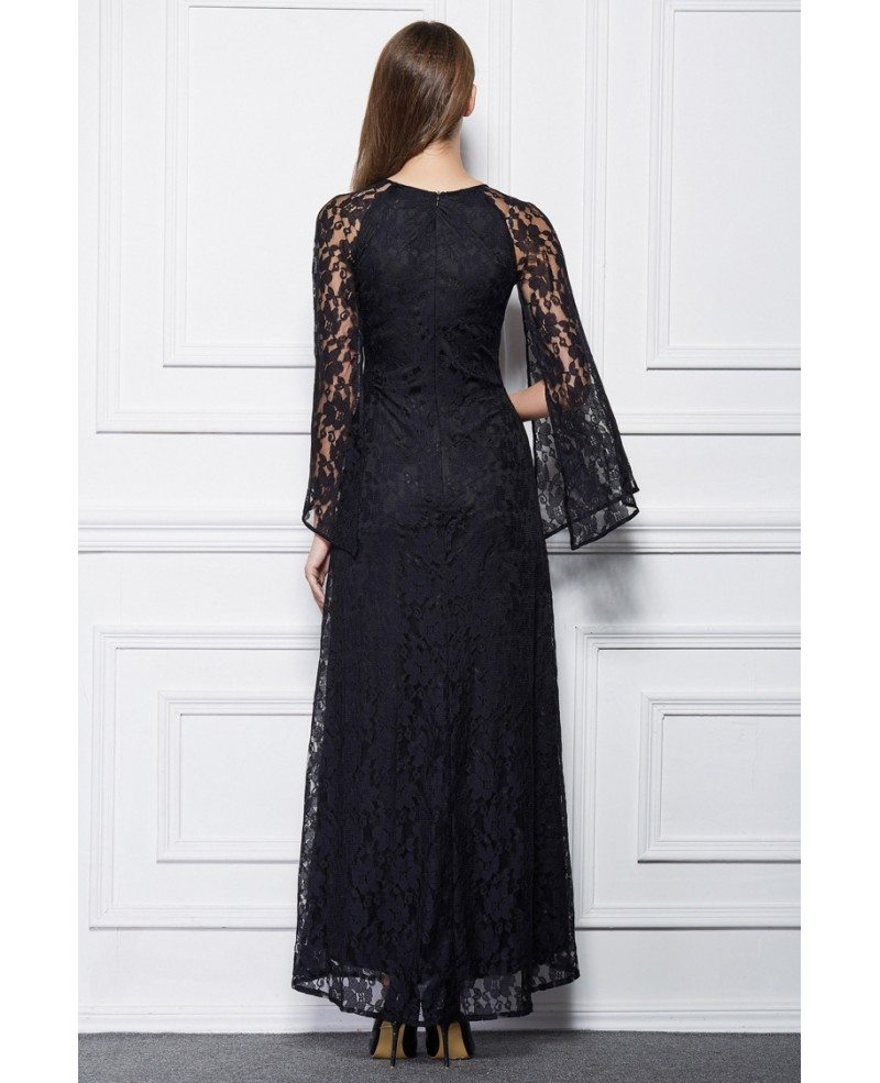 elegant black lace dresses - photo #29