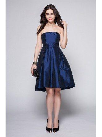 Simple Elegant Scoop Taffeta Bridesmaid Wedding Party Dress
