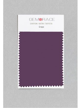Grape Color in Satin Fabric