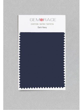 Dark Navy Color in Satin Fabric