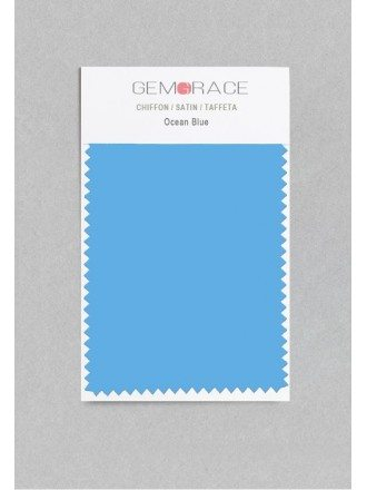Ocean Blue Color in Satin Fabric