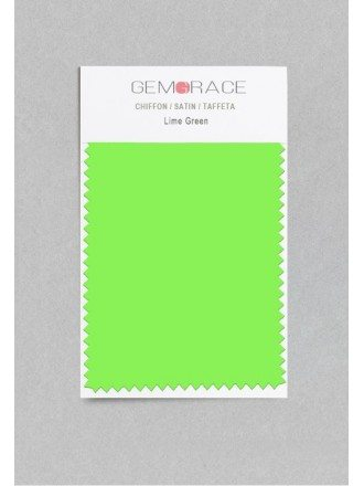 Lime Green Color in Satin Fabric