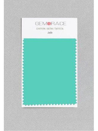 Jade Color in Satin Fabric