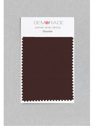 Chocolate Color in Satin Fabric
