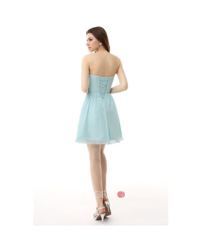 A line sweetheart short chiffon bridesmaid dress yh0008 for Short chiffon wedding dress