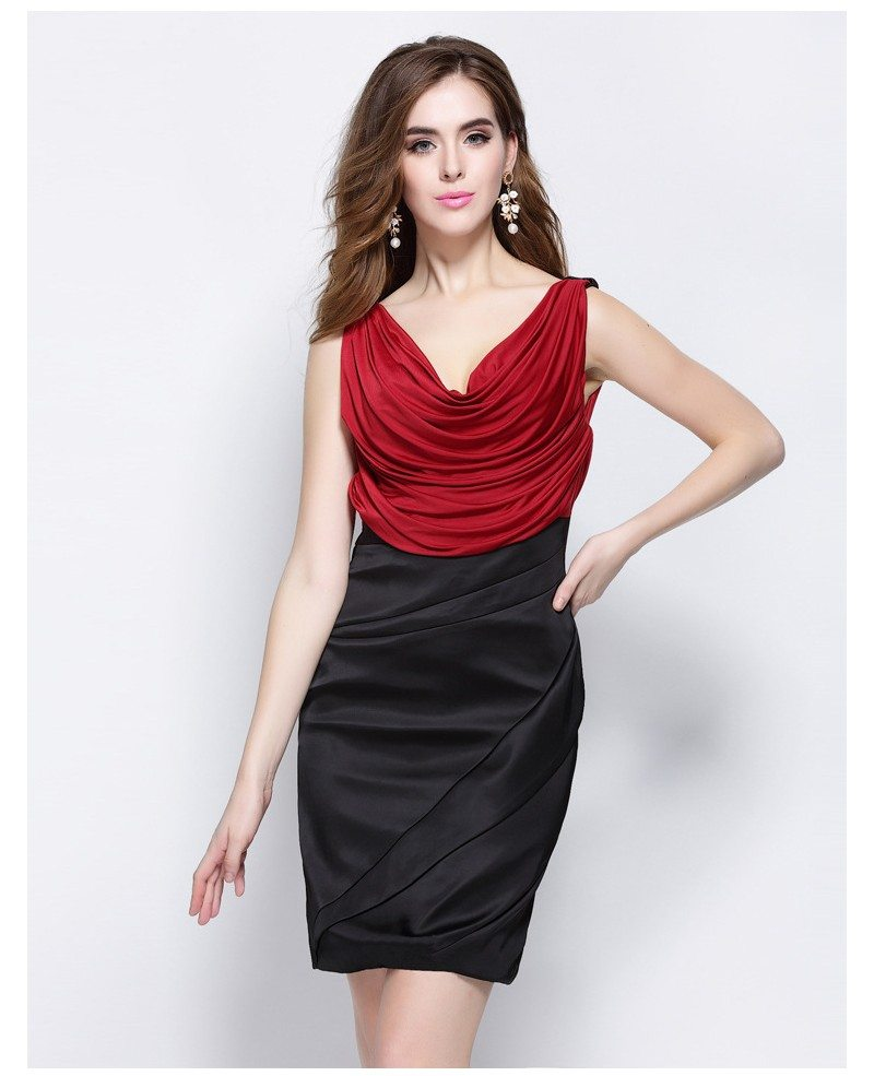 Red and Black Little Short Dress Special Occasion -GemGrace