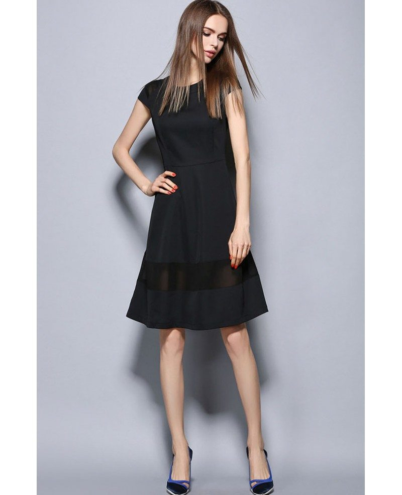 Shop black cap sleeve dress at Neiman Marcus, where you will find free shipping on the latest in fashion from top designers. Joan Vass Cap-Sleeve Ponte Knee-Length Dress, Black Details Joan Vass lightweight ponte dress with asymmetric seams. Round neckline. Cap sleeves.