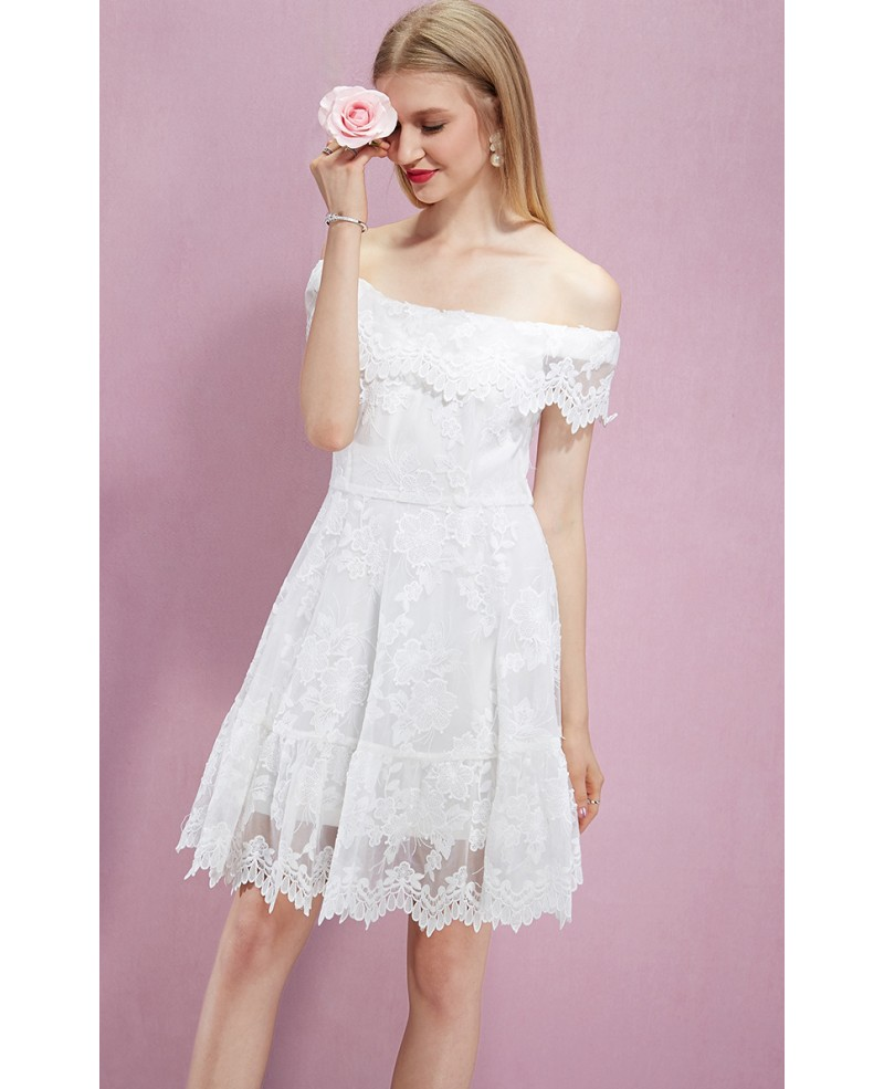 b134be5ae1d White Lace Knee Length Cocktail Dresses - Data Dynamic AG