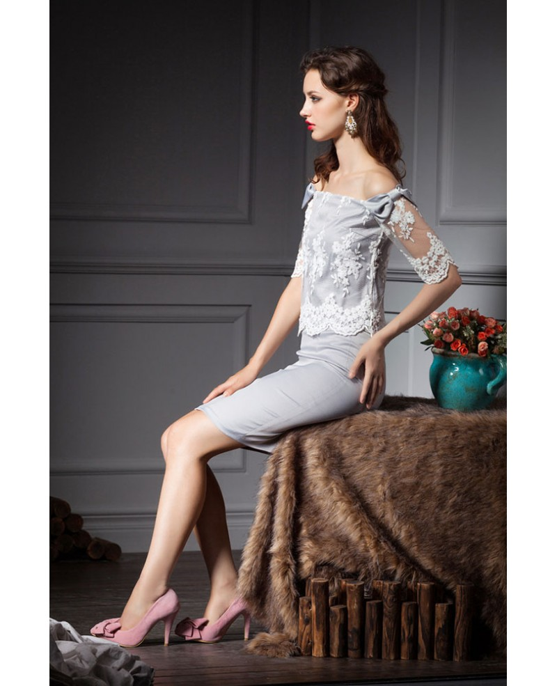 Grey Sheath Offtheshoulder Lace Wedding Guest Dress. Designer Wedding Dresses Under 1000. Wedding Dresses To Hide Big Arms. Best Color Wedding Dress For Pale Skin. Wedding Dresses With Lace And Sleeves. Simple Wedding Dresses With Lace. Beach Wedding Dresses Images. 50 Celebrity Wedding Dresses. A Line Wedding Dresses Manchester