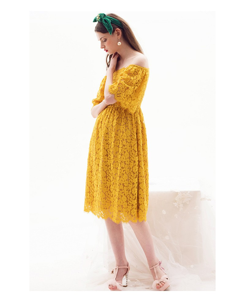 Yellow Off The Shoulder Dress Photo Album - Watch Out, There\'s a ...
