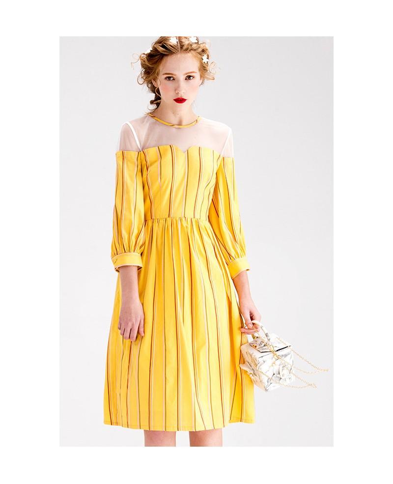 Yellow wedding guest dress
