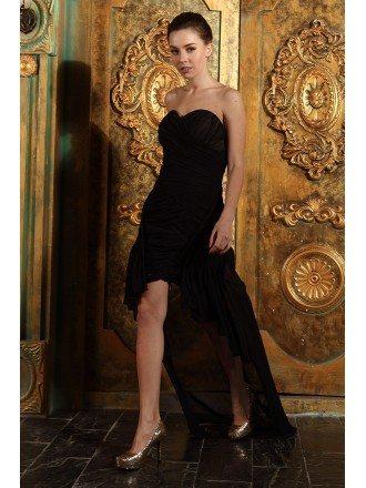 A-line Sweetheart Chiffon Asymmetrical Bridesmaid Dress