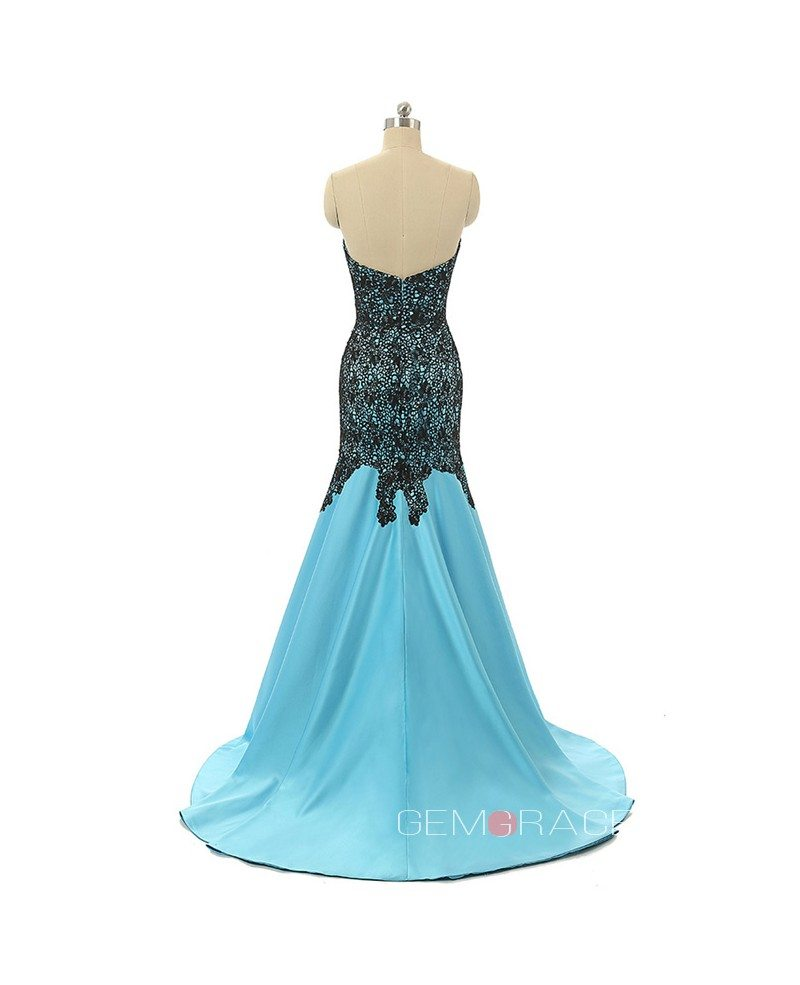 Mermaid Sweetheart Sweep-train Asymmetrical Prom Dress with ...