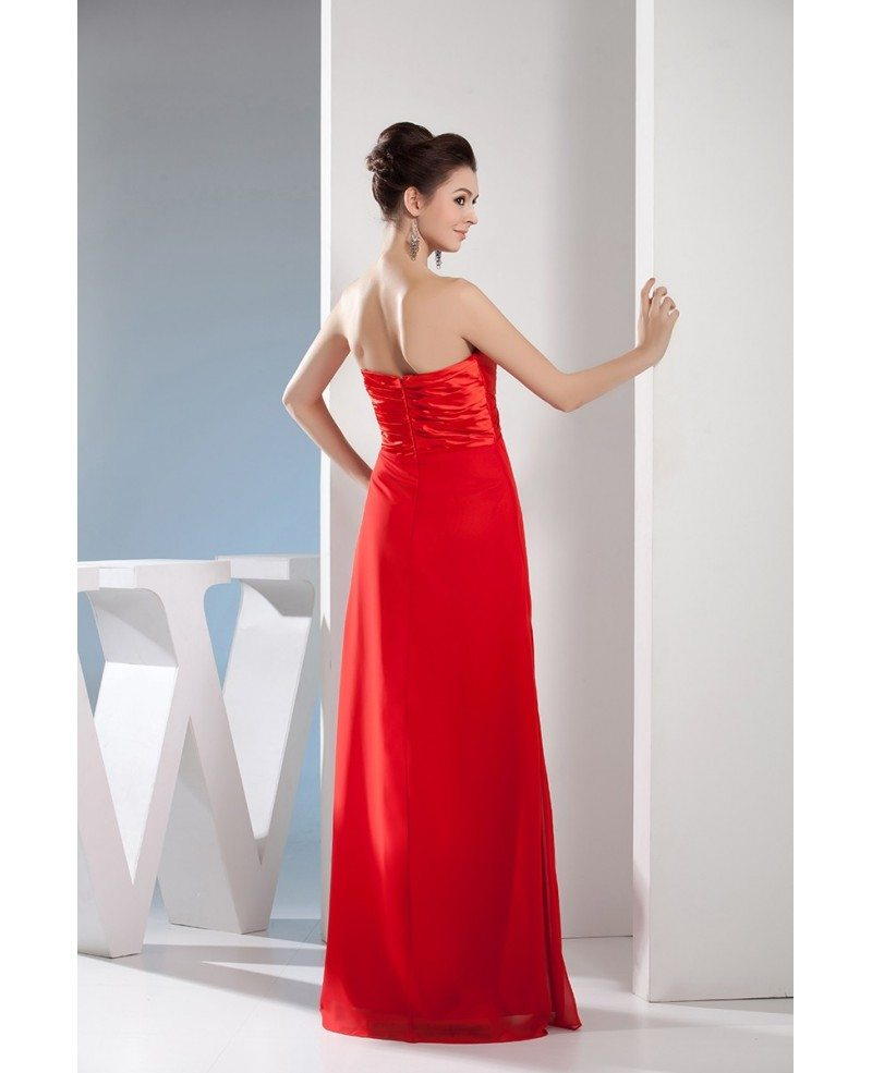 A line sweetheart floor length satin evening dress op4635 for Floor length dresses