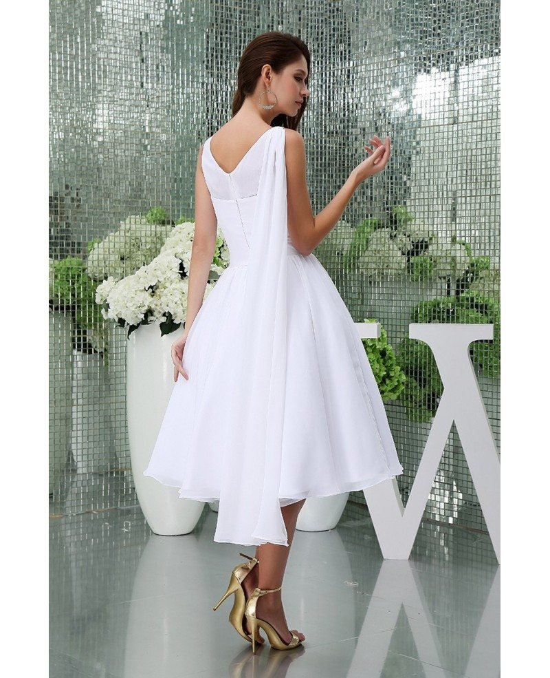 Chiffon Short Wedding Dresses Simple Beach Wedding A Line