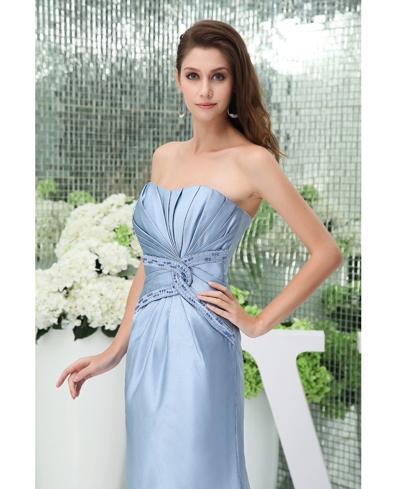 Mermaid Strapless Ankle-length Satin Mother Of The Bride