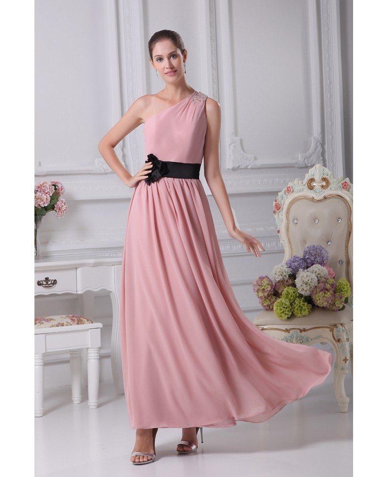 ef5d9fad304 Pink One Shoulder Party Dress – Fashion dresses
