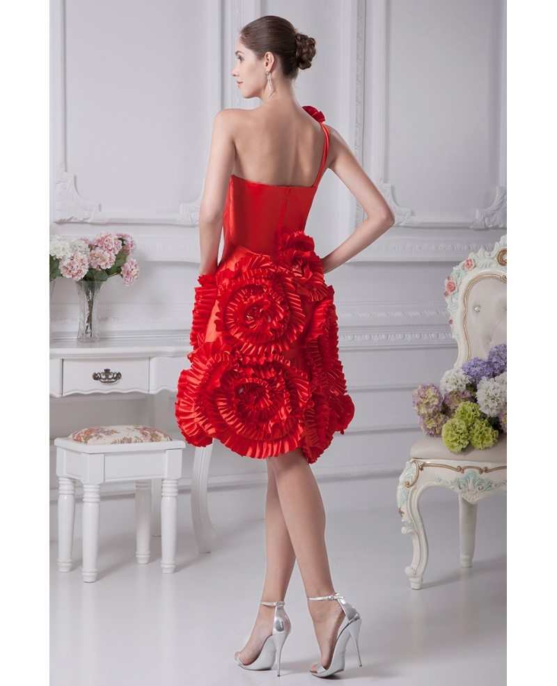 Red Short Wedding Dresses: Red Reception Short Wedding Dresses Modern Beautiful Red