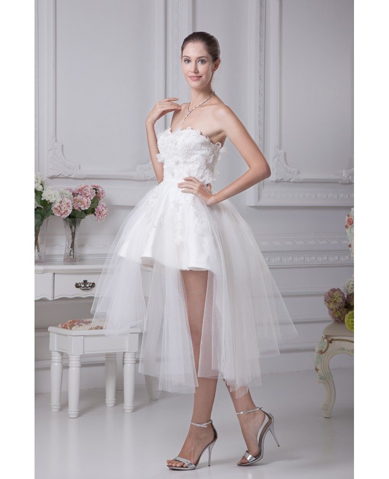 Cheap Short Wedding Dresses Tulle Strapless Beautiful