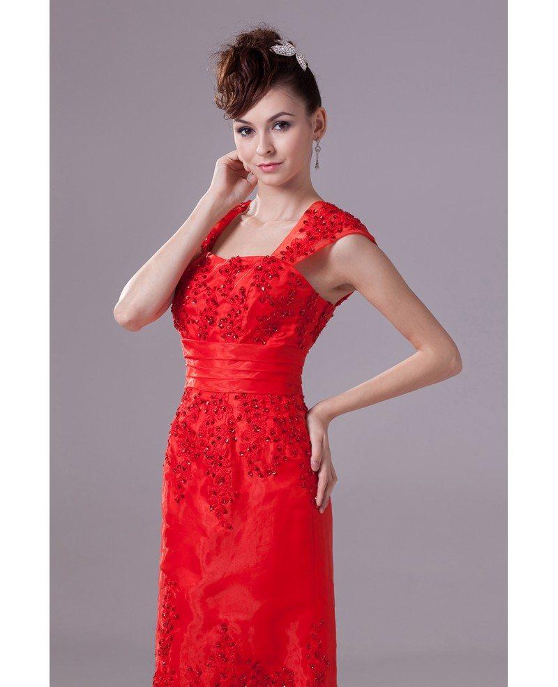 Cap strap mermaid style beaded lace organza wedding dress for Wedding dress strap styles
