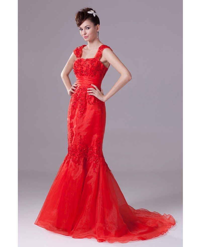 Wedding dresses in red color wedding for Wedding dress red colour