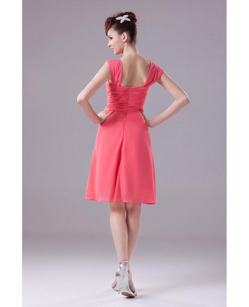 Knee length folded fuchsia bridesmaid dress with sweetheart knee length folded fuchsia bridesmaid dress with sweetheart neckline ombrellifo Choice Image