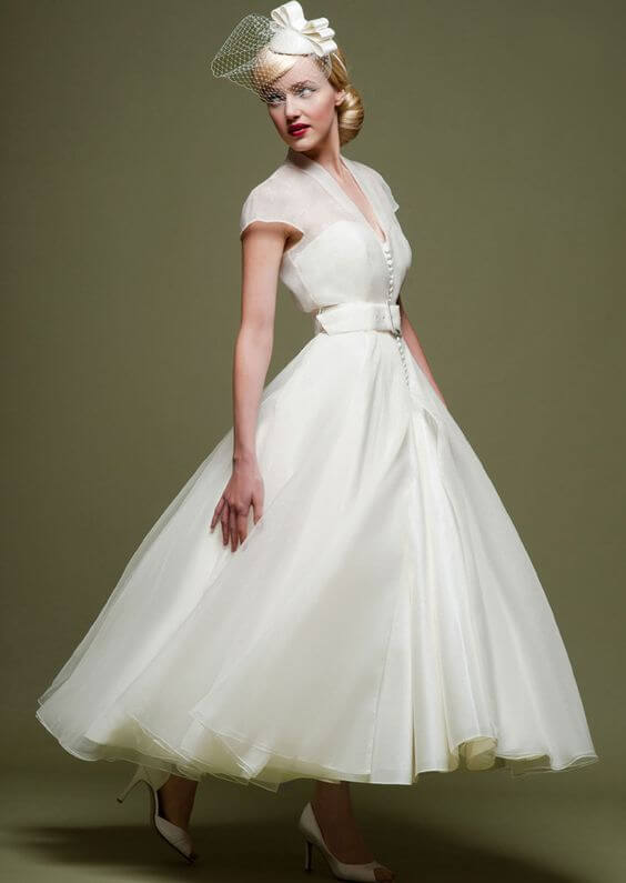 20 Of The Most Vintage Tea Length Wedding Dresses For