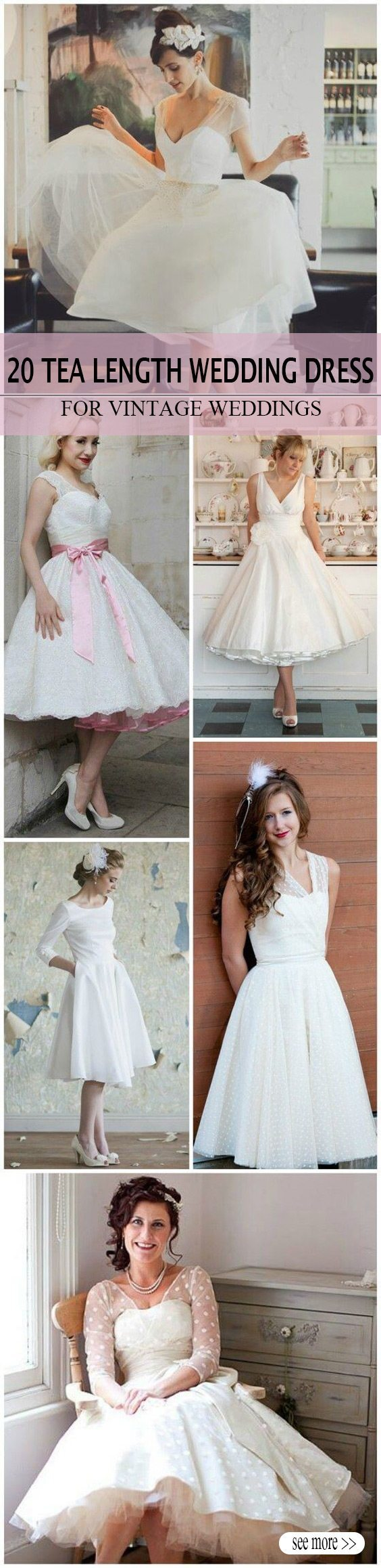 20 of the most vintage tea length wedding dresses for older bride 20 of the most vintage tea length wedding dresses for older brides ombrellifo Image collections