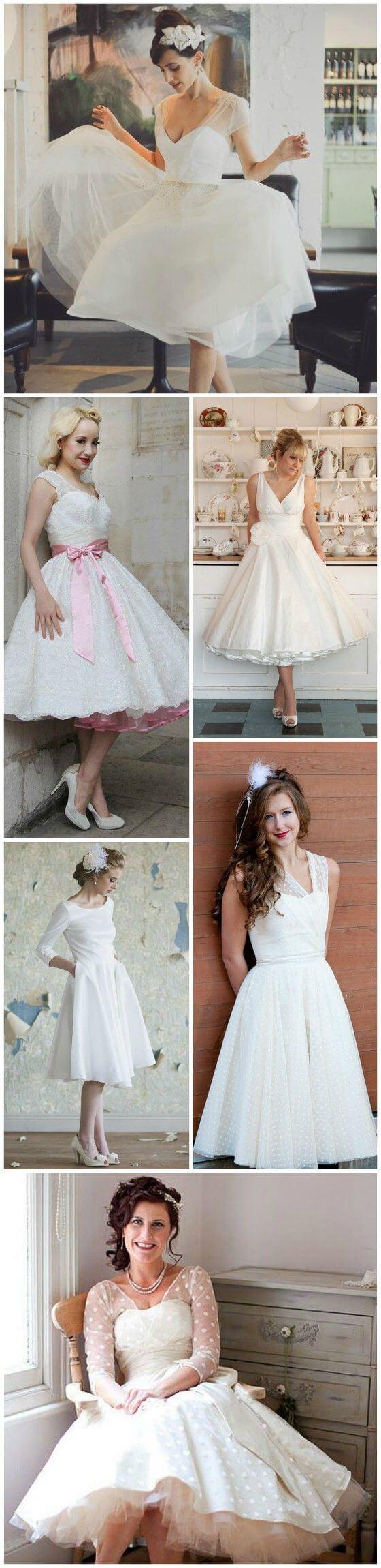 20 of the Most Vintage Tea-length Wedding Dresses for Older Brides