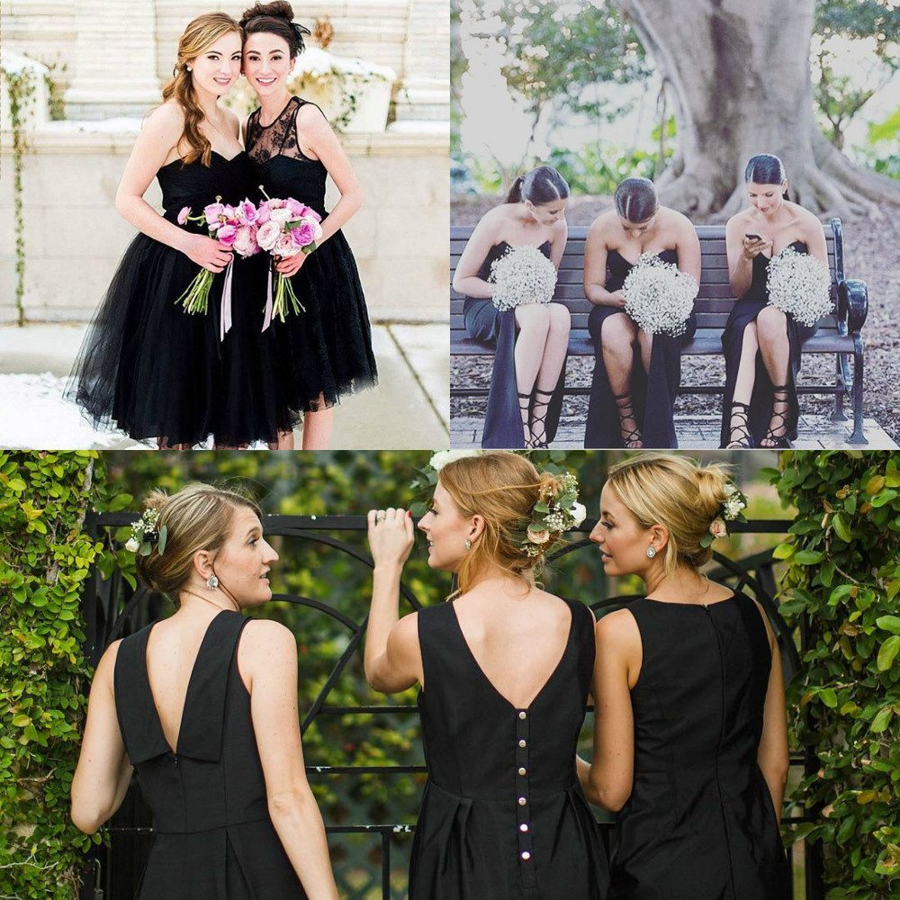 Top trending color themes for bridesmaid dresses 2016 and 2017 black bridesmaid dresses ombrellifo Image collections