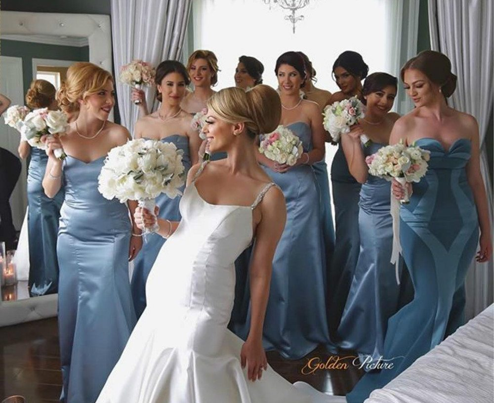 Top trending color themes for bridesmaid dresses 2016 and 2017 blue color bridesmaid dresses ombrellifo Image collections