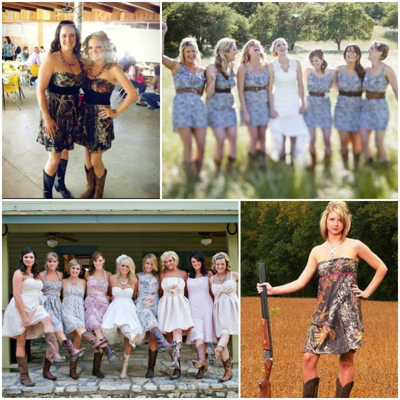Trendy Camo Bridesmaid Dresses For A Unique Wedding