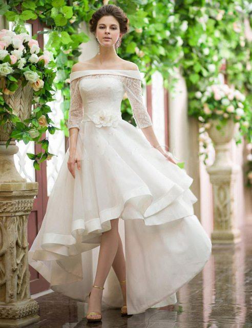 25 of the most ridiculously beautiful hi lo wedding for Wedding dresses asymmetrical hemline