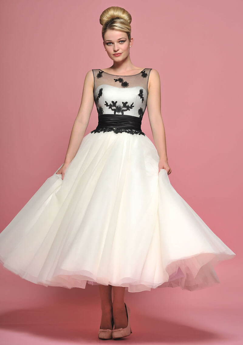 23 Top 45 Tea length Wedding Dress with Color wedding dresses black Tea length Wedding Dress with Color