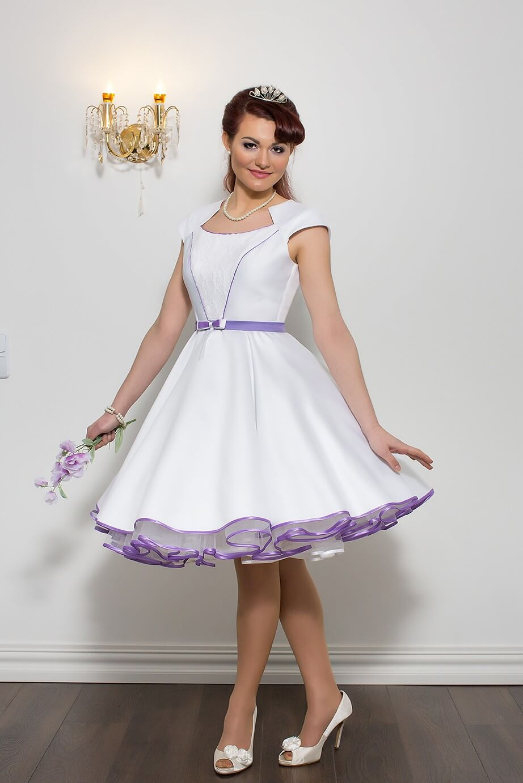 Tea Length Wedding Dresses with Color