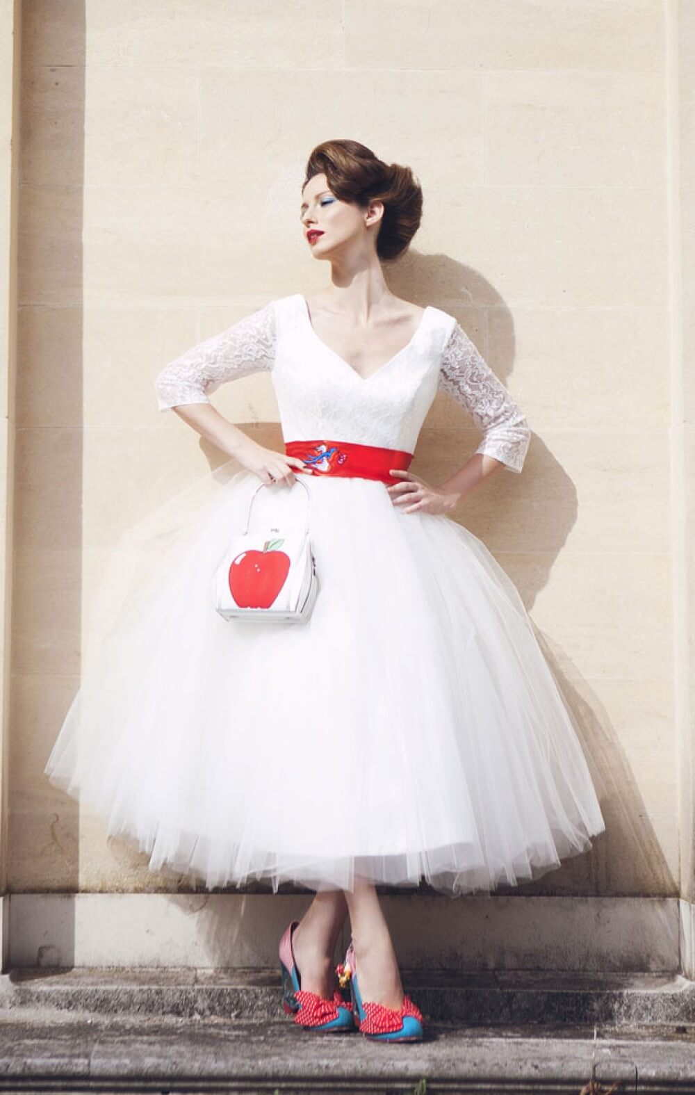 Top 45 Tea-length Wedding Dress with Color on Pinterest