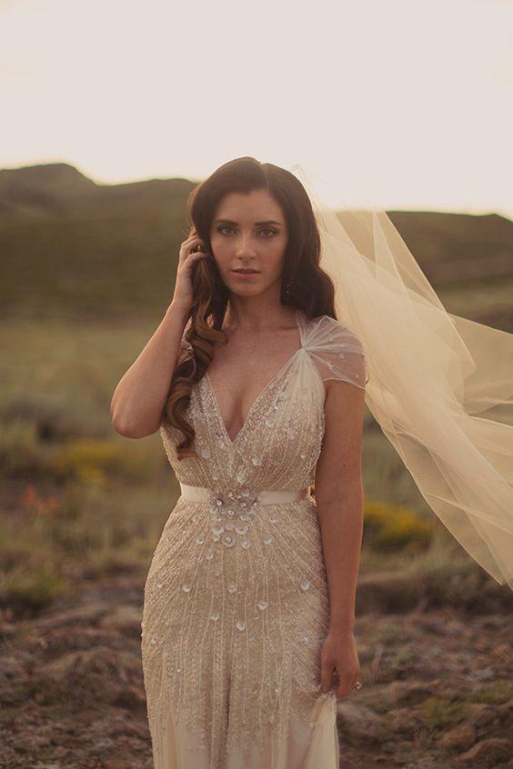 champagne crystal dress