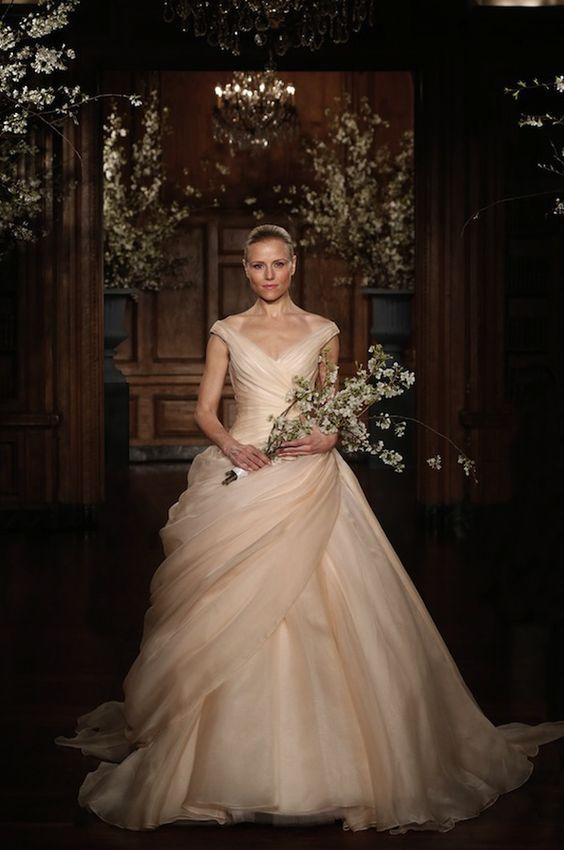 champagne ballgown dress