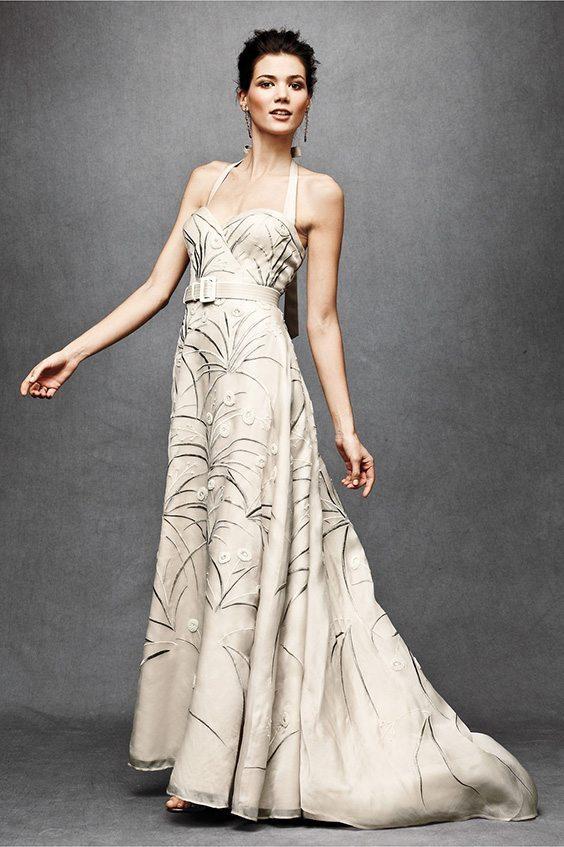 champagne printed dress