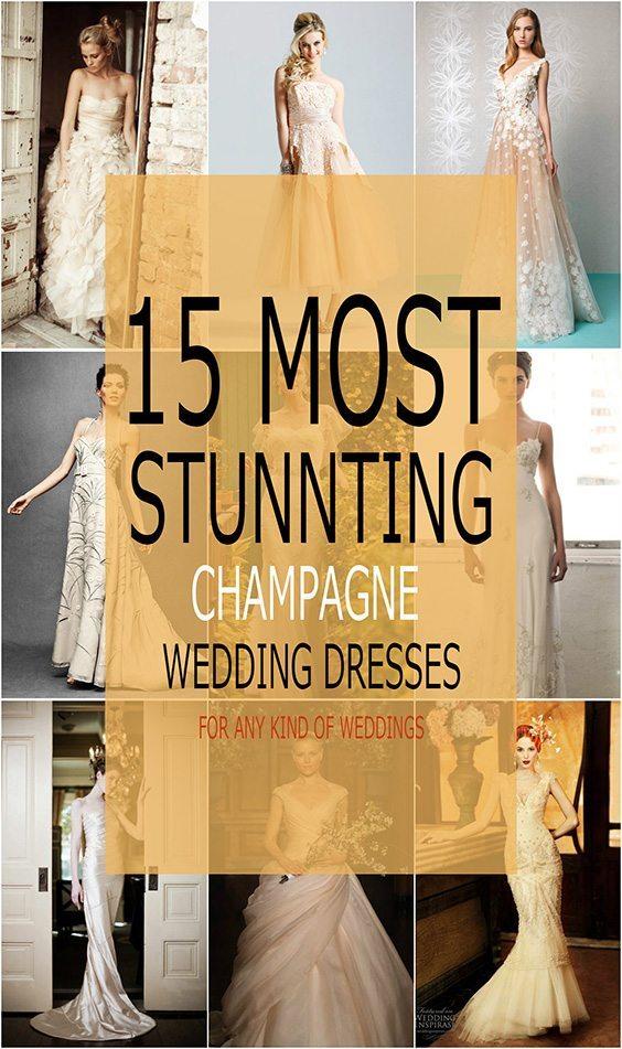 Top 15 champagne wedding dresses