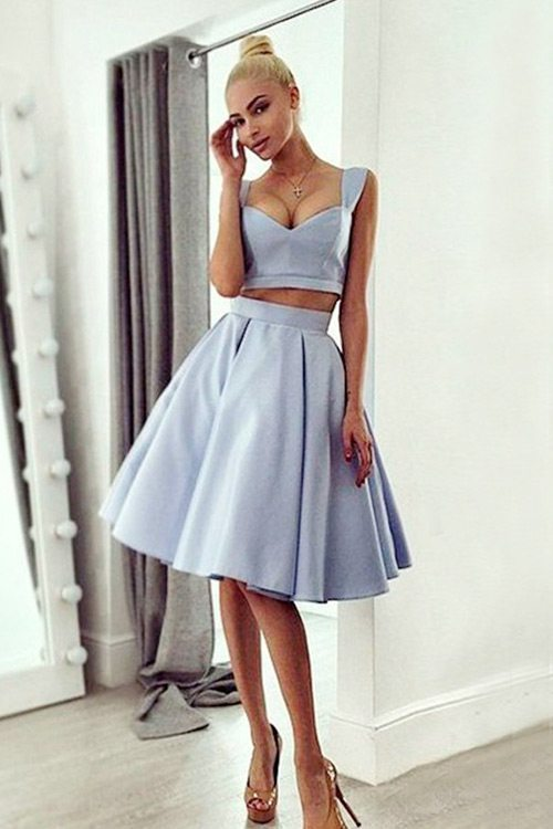 simple 2-piece homecoming dresses