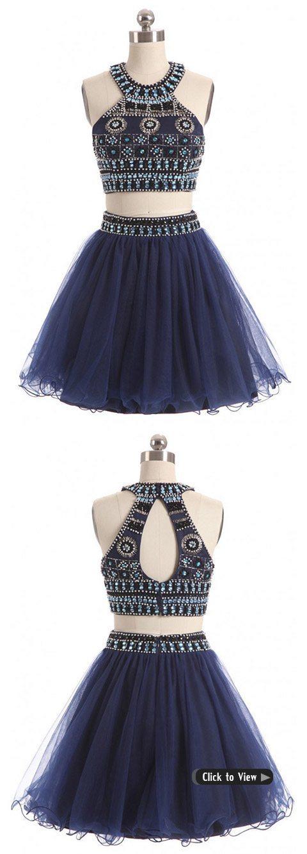 short halter two piece dress