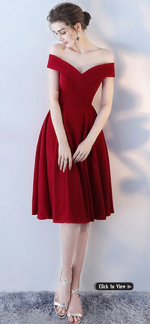 burgundy homecoming party dress