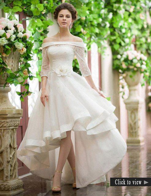 high lowwedding dress