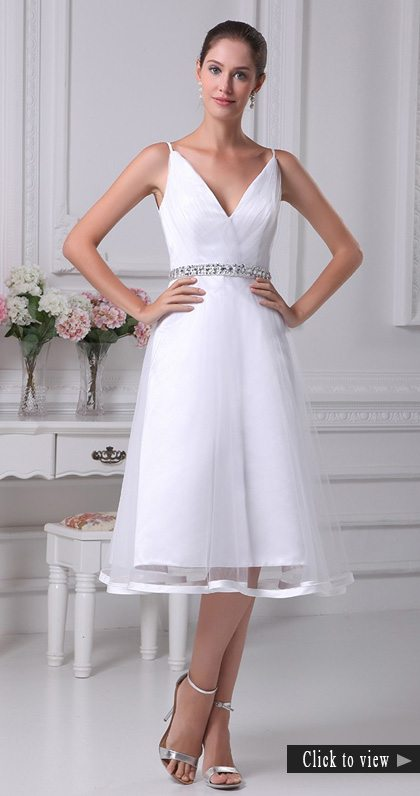 short simple wedding dress