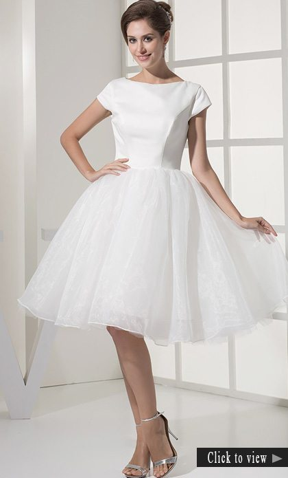 short modest wedding dress