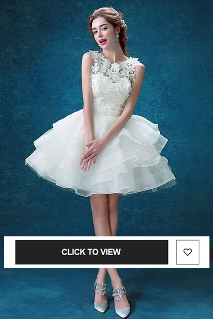 short wedding dress